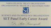 Diploma NATO - SET Panel Early Career Award - Piotr Samczyński